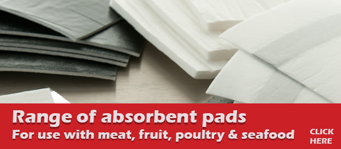 Absorbent packaging: range of absorbent pads for meat, poultry, seafood & fruit