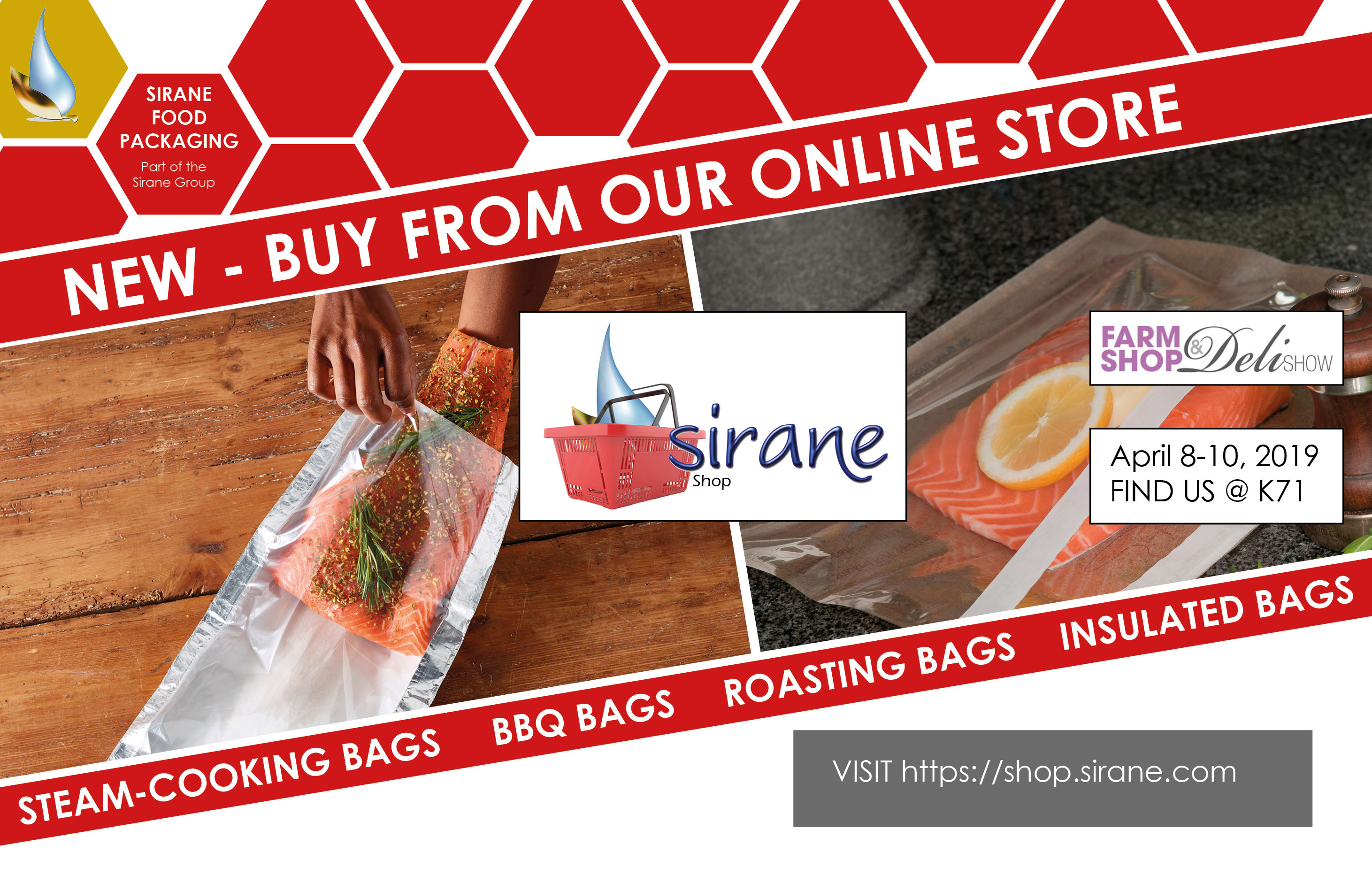 Sirane will be exhibiting at the Farm Shop & Deli Show 2019