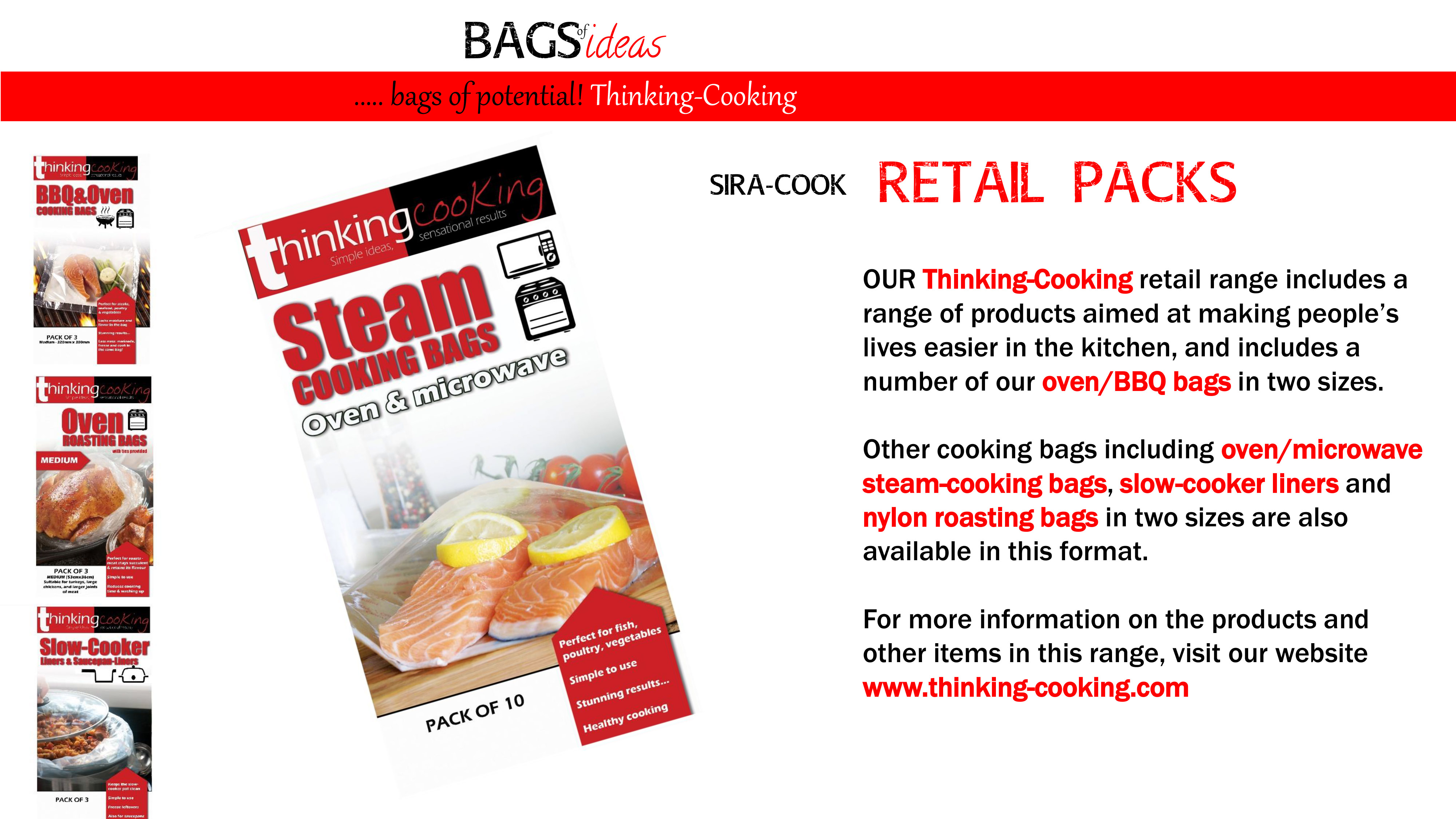 Bags of ideas | cooking bag solutions from Sirane