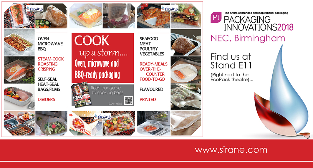 Sirane will be cooking up a storm at Packaging Innovations 2018