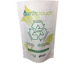 Recyclable & plastic-free stand-up packaging pouch