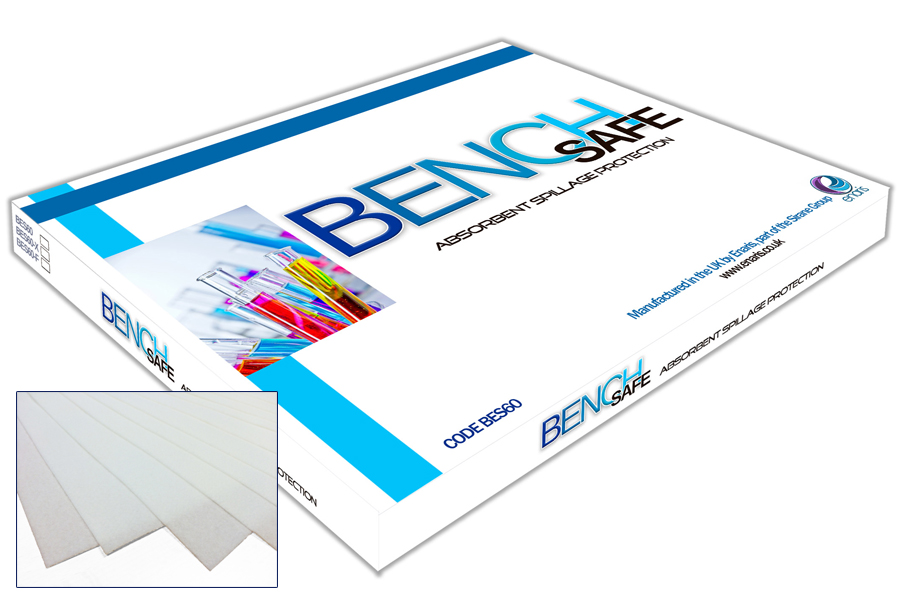 Absorbent spillage protection for labs - BenchSafe