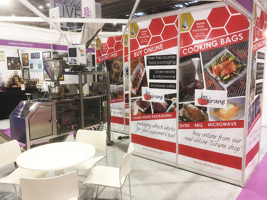 Sirane's stand at the Farm-Shop & Deli Show 2019