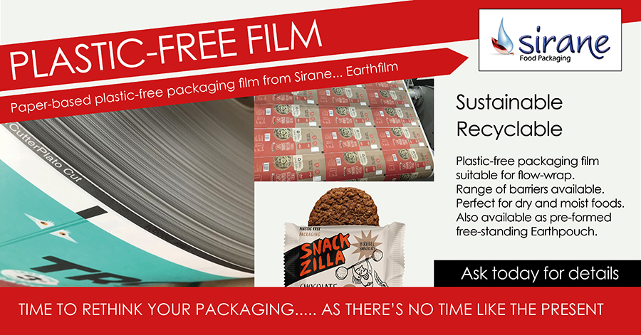 Plastic-free flow-wrap packaging film - Earthfilm
