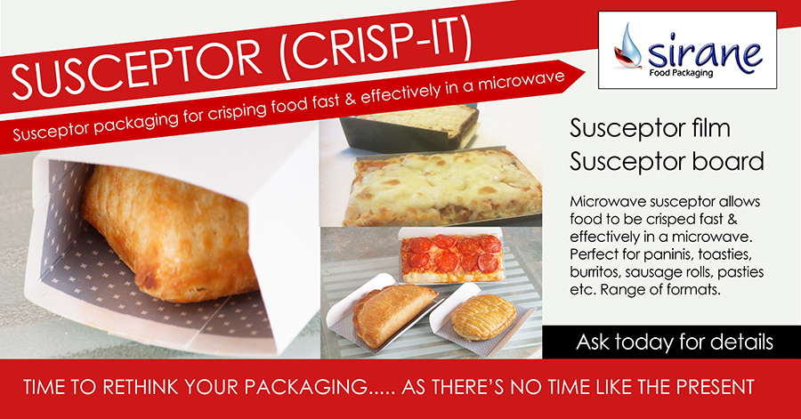 Susceptor for crisping food in a microwave