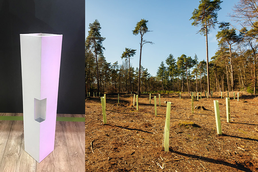 Plastic tree-guards could become a thing of the past....