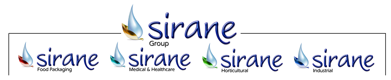 Sirane's divisions - food packaging, medical, horticultural and industrial