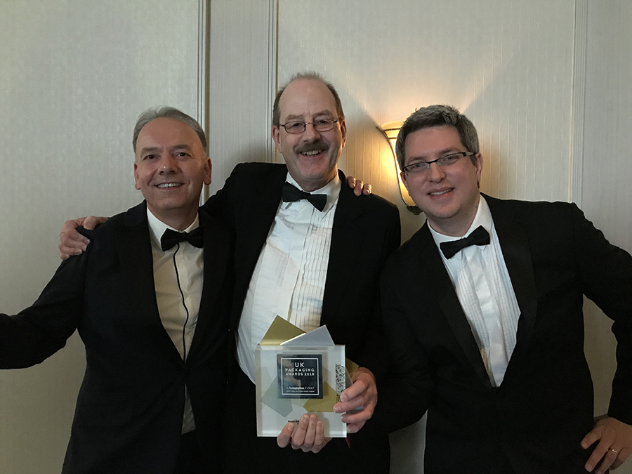 UK Packaging Awards winners - Vince Larson, Simon Balderson & Peter Ralten